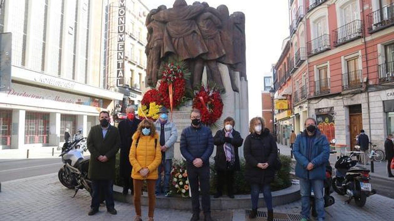 Homenajean a los abogados de Atocha en el 44 aniversario de la matanza