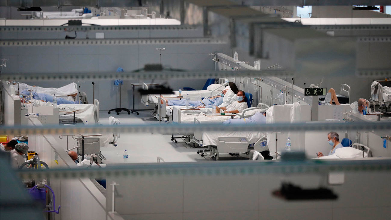 Uno de los pabellones de hospitalización del  Zendal