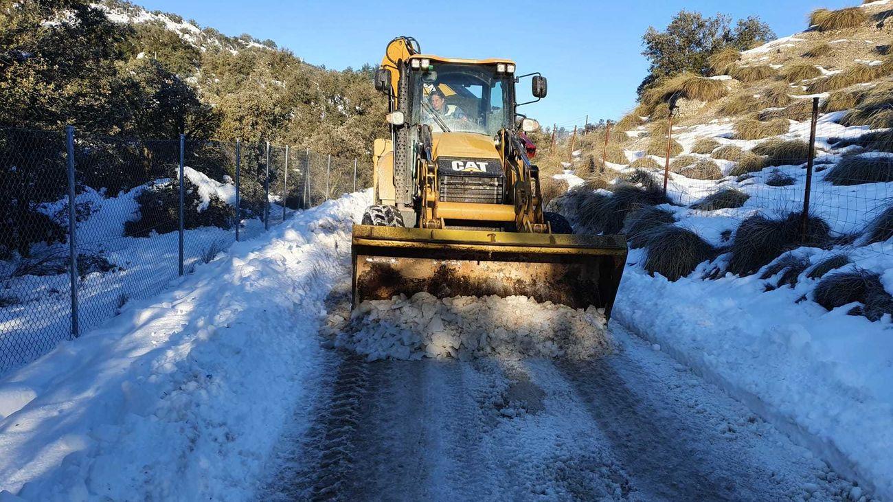 Apertura de calles tras la nevada