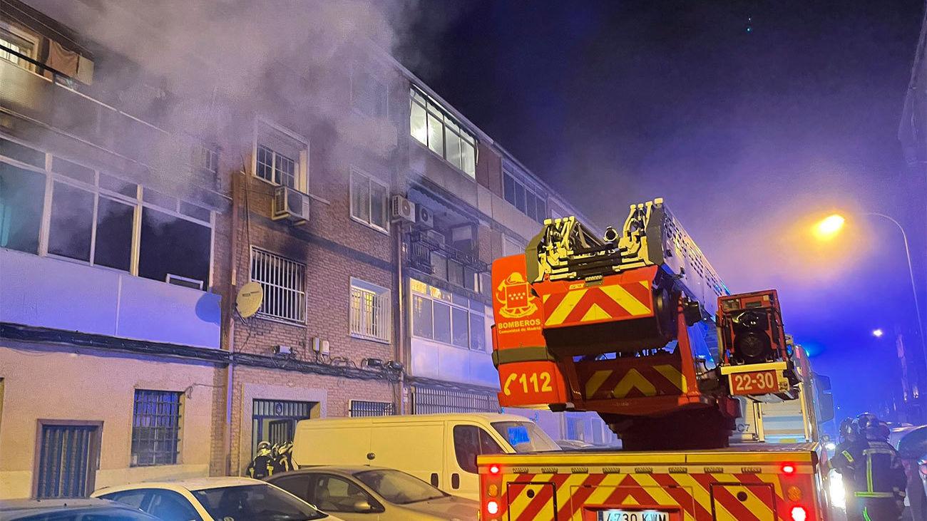Incendio en un a vivendia de Alcalá de Henares