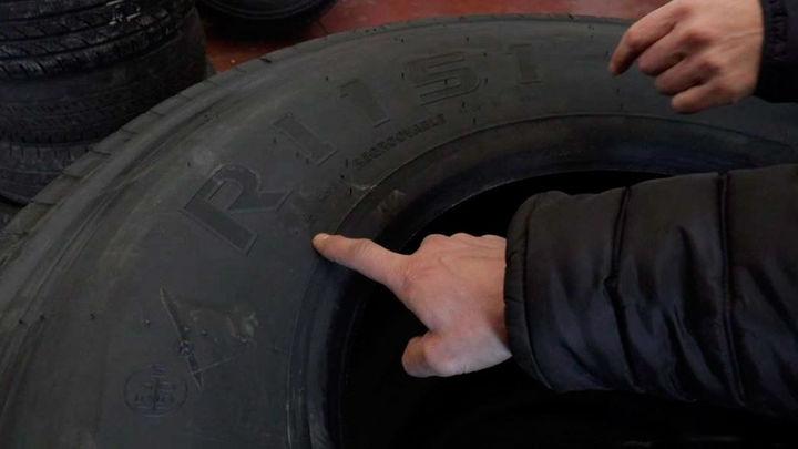 Así son los neumáticos de los camiones