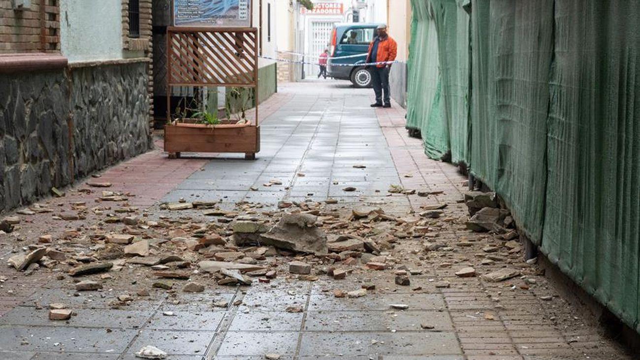 Daños causados en Granada por el terremoto