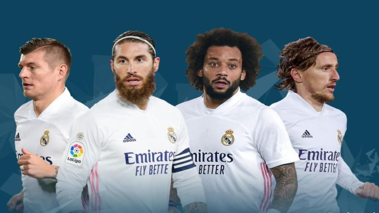 Kroos, Sergio Ramos, Marcelo y Modric