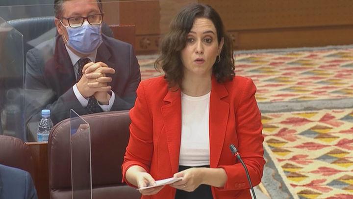 La pandemia de Covid y la nevada 'Filomena' centran el Pleno de la Asamblea de Madrid