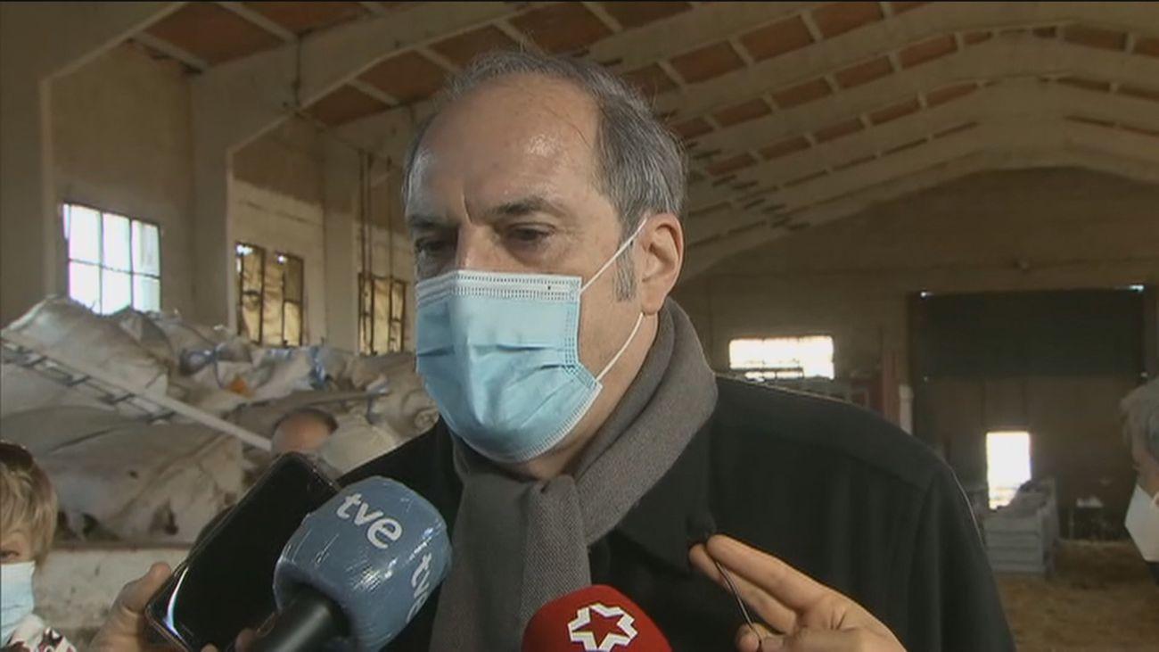 Gabilondo propone líneas de crédito para los ganaderos afectados por 'Filomena' y por la pandemia
