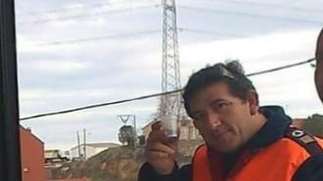 Juan Miguel Garrido, voluntario de Protección Civil de El Molar