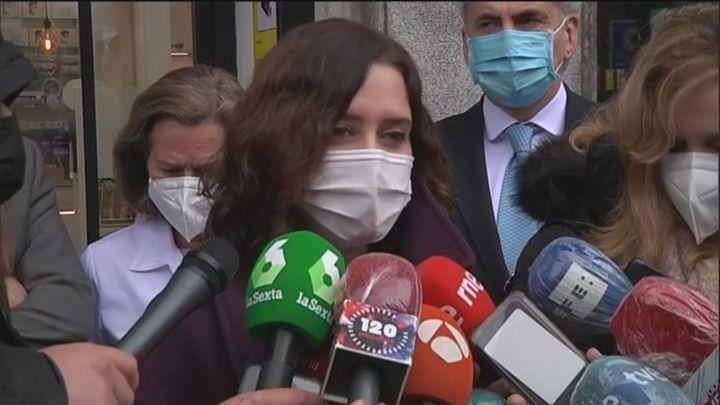 """Ayuso responde a Page: """"Los madrileños no van de turismo sanitario a ninguna comunidad"""""""