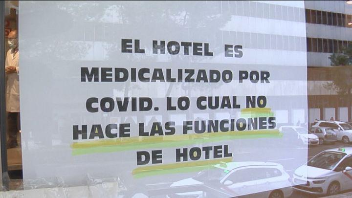 Así es el Ayre Colón, el único hotel medicalizado que sigue funcionando en España