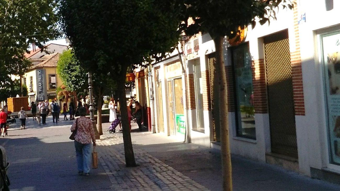 Comercios de la calle Madrid en Getafe