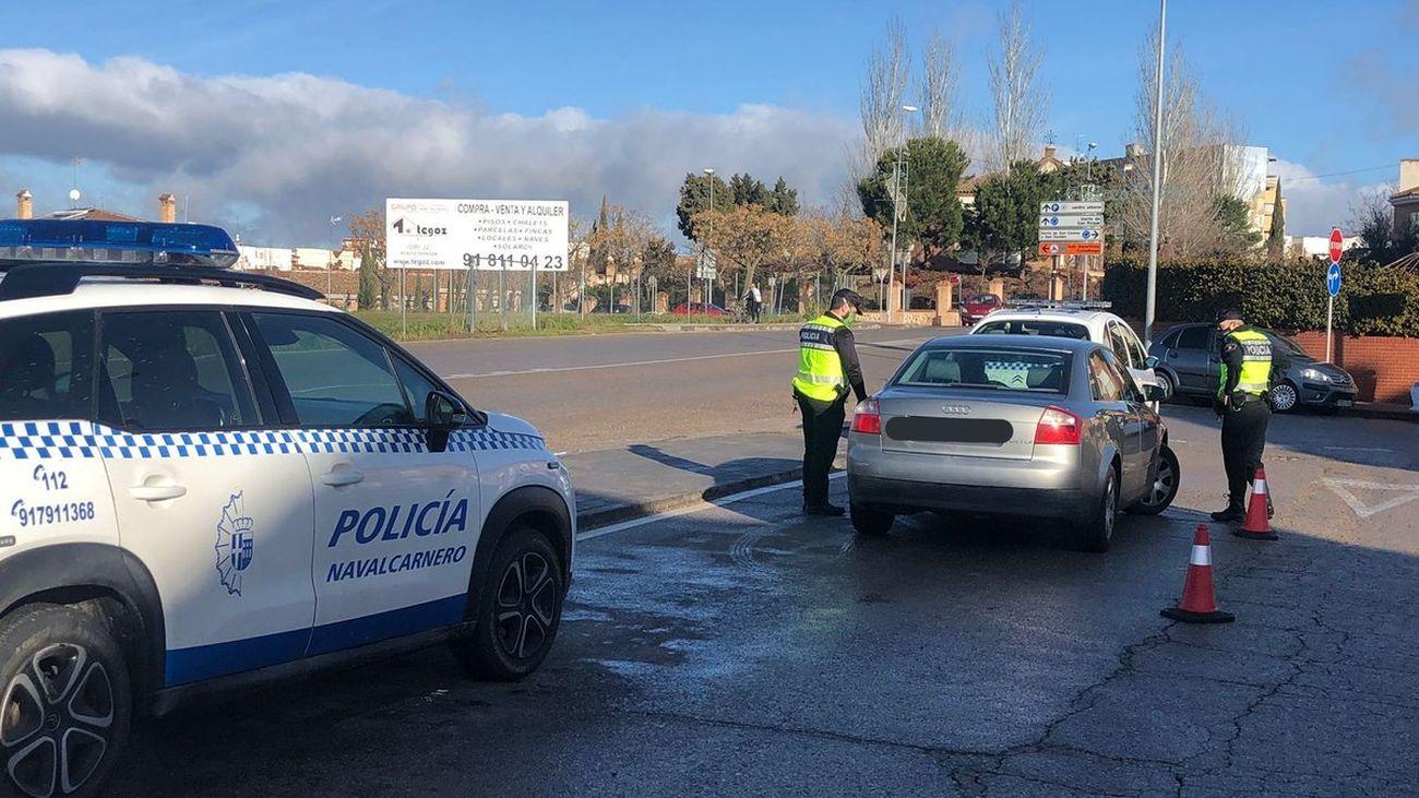 Control de la Policía Local de Navalcarnero