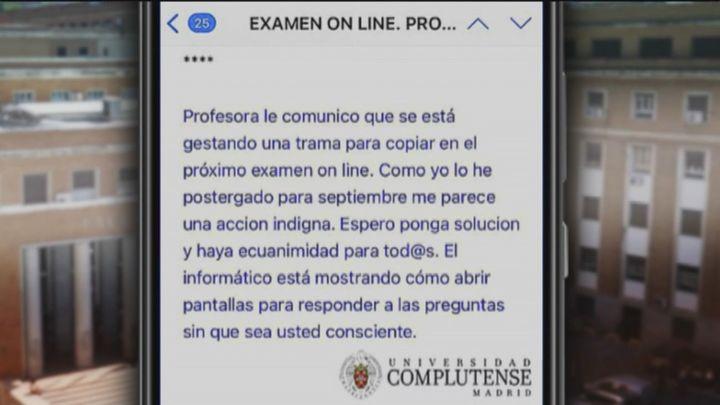 Los estudiantes denuncian tramas para copiar en los exámenes online