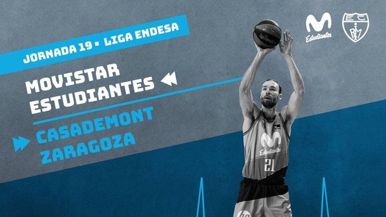 Cartel del partido Estudiantes - Zaragoza