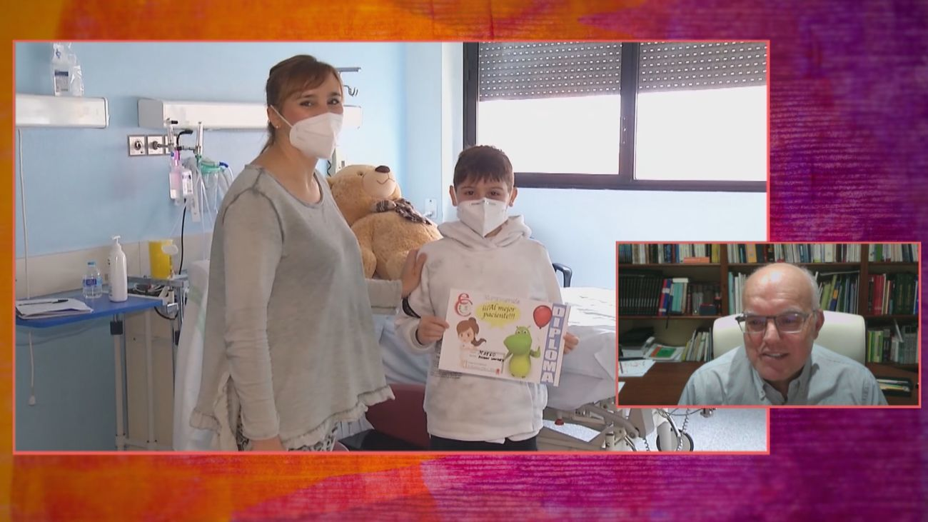 Salvar del covid a Mateo, un niño de 10 años, todo un reto para el pediatra Ramón