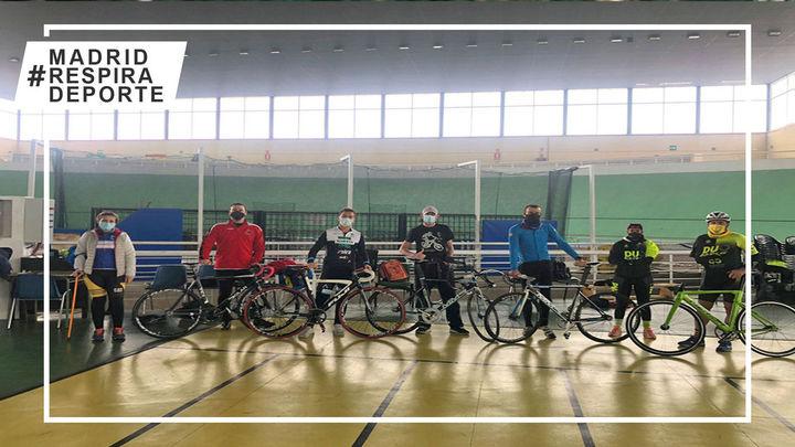 La Selección Madrileña de Ciclismo Adaptado prepara los Nacionales de pista