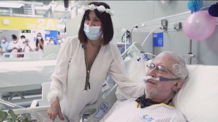 Primera boda en el hospital Zendal de Madrid