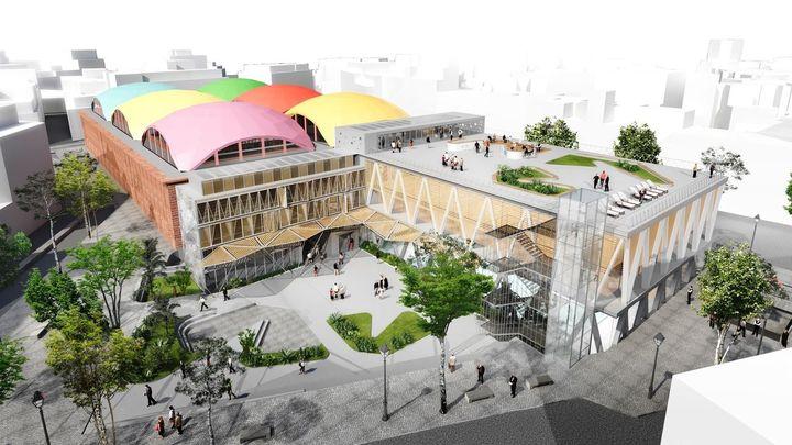 Polémica vecinal por la instalación de una terraza en el nuevo polideportivo de La Cebada