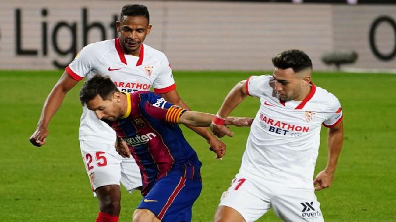 Messi ante el Sevilla