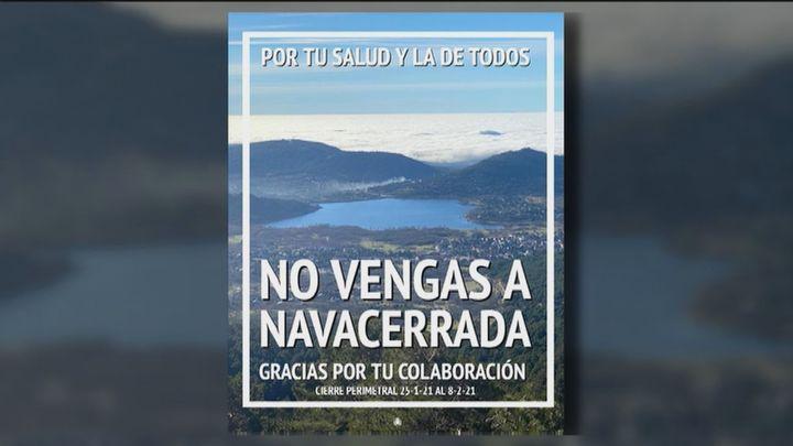 """Los vecinos de Navacerrada: """"No puede repetirse lo que se vivió en Navidad o en el Puente de la Constitución"""""""