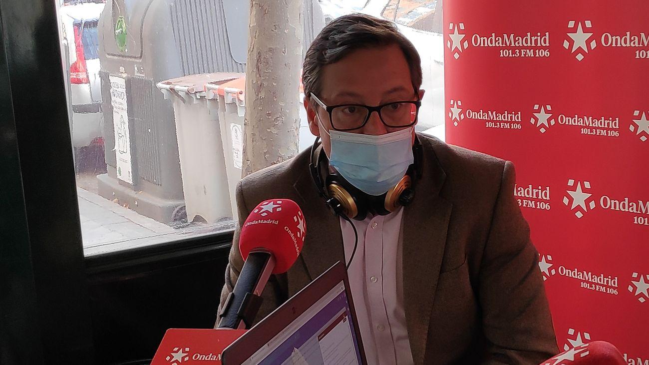 """Alfonso Serrano, portavoz del PP en la Asamblea de Madrid: """"Se recortará el toque de queda siempre que la situación epidemiológica acompañe"""""""