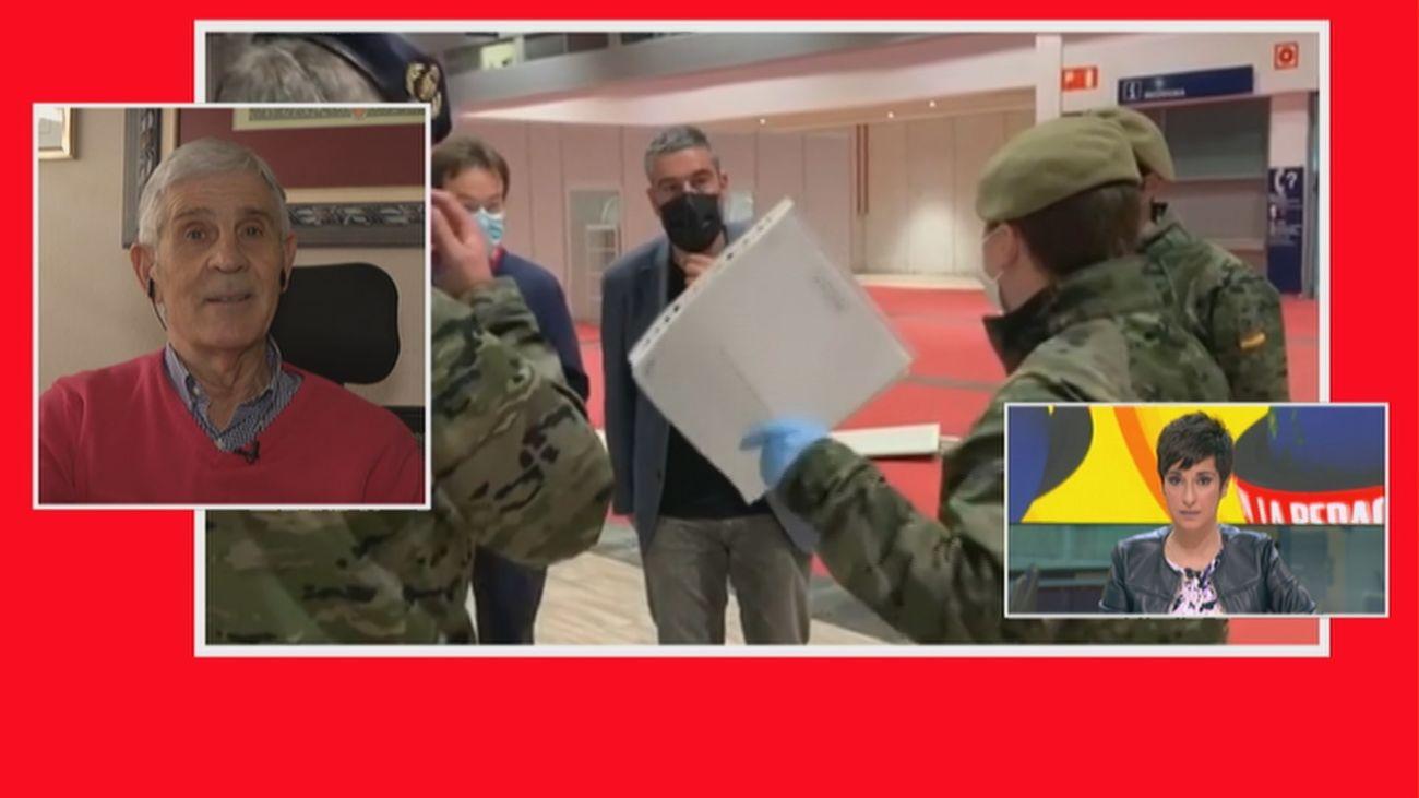 """El Ejército, preparado para vacunar: """"Cada comunidad autónoma diría si necesita apoyo"""""""