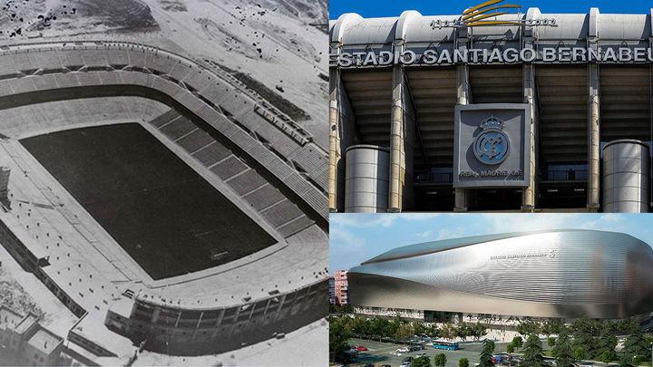 La metamorfosis del Santiago Bernabéu:  de 'Nuevo Chamartín' a estadio de élite