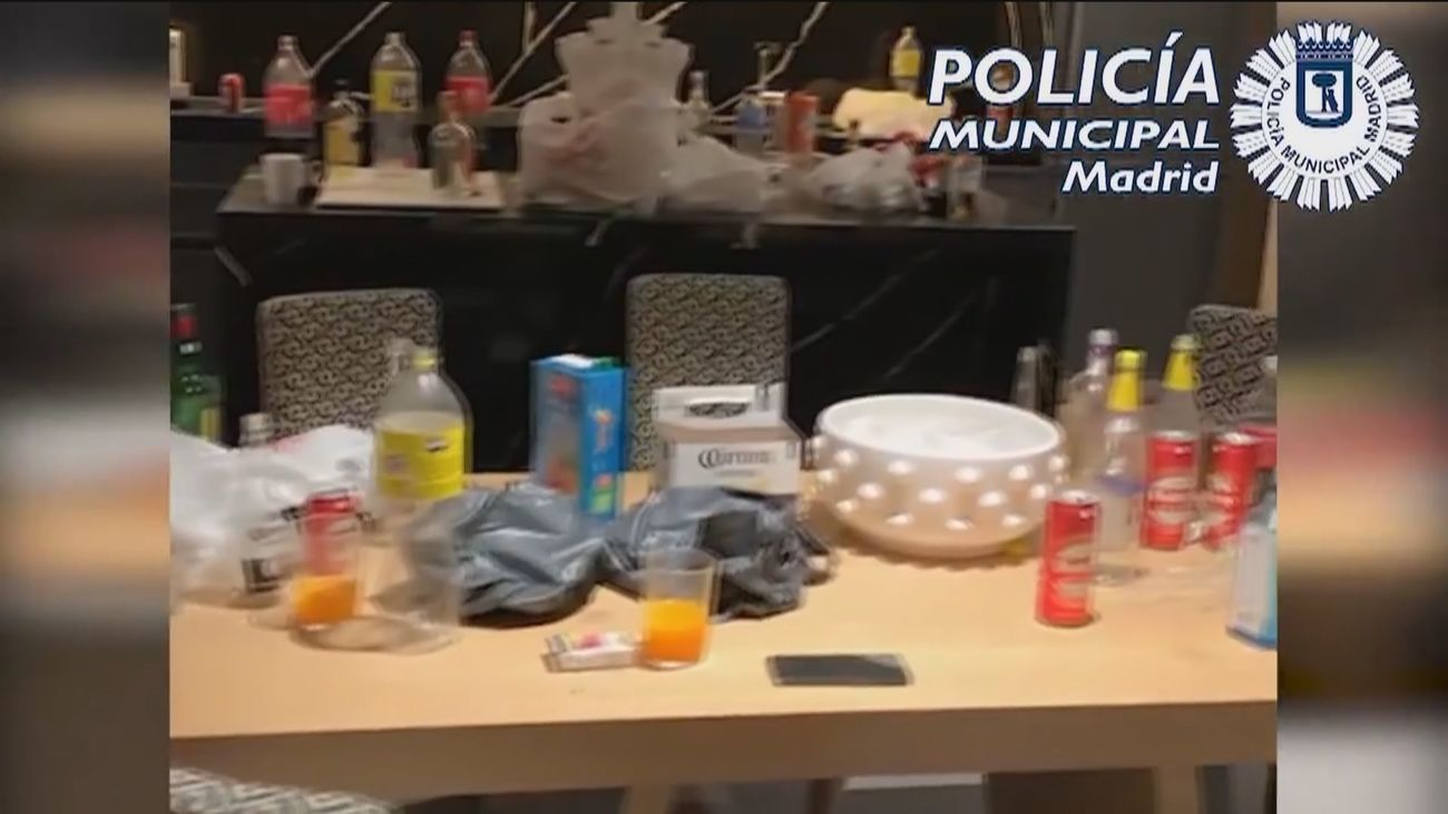 Más de 1.000 euros, el precio por una fiesta ilegal en Madrid en plena pandemia