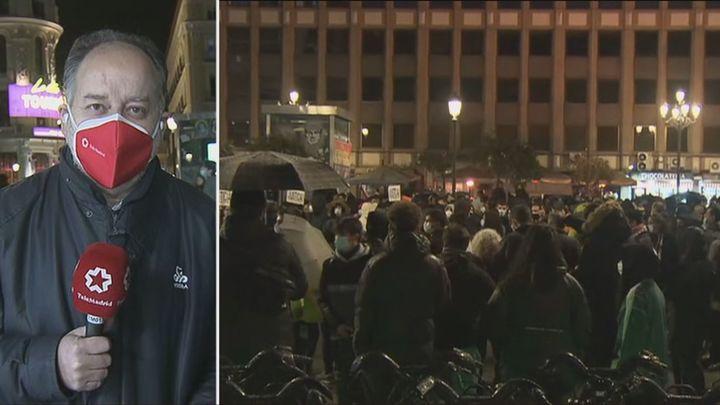 Agreden al cámara de Telemadrid en la manifestación en defensa del rapero Hasel