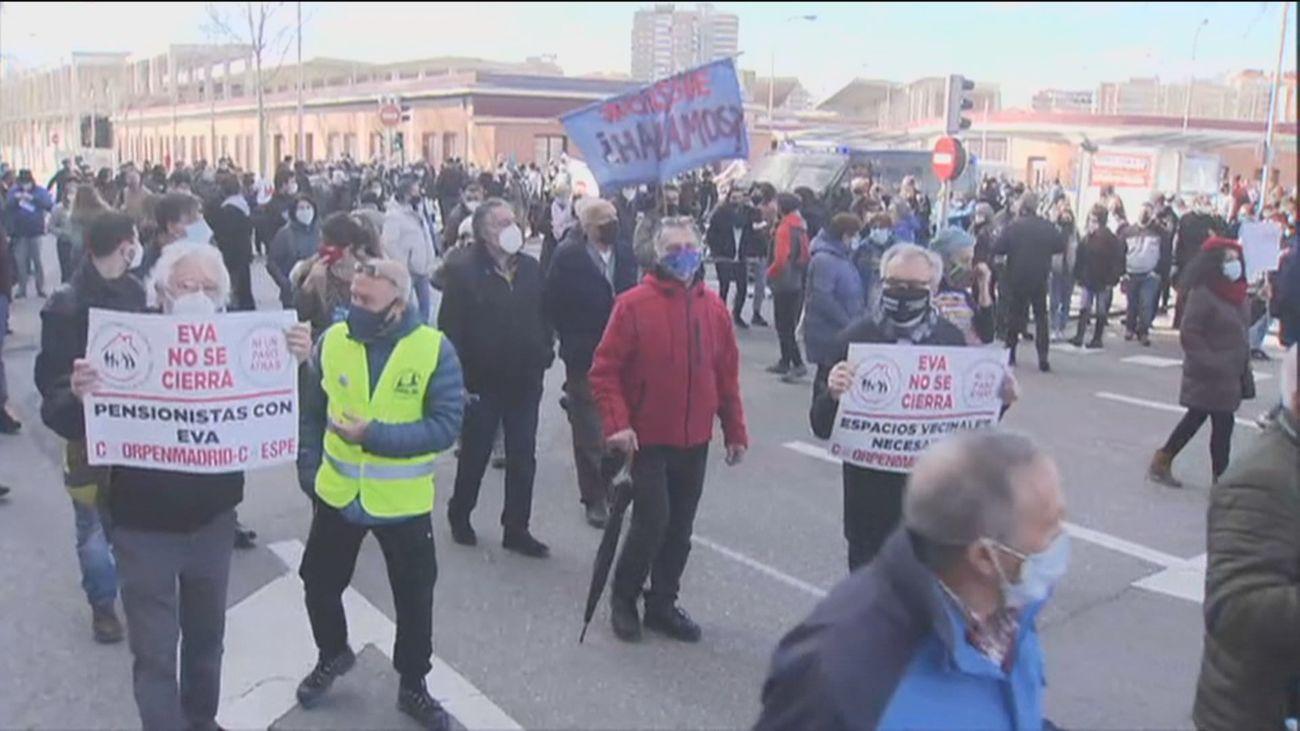 Cientos de personas se manifiestan en Madrid para rechazar el desalojo del Espacio Vecinal Arganzuela