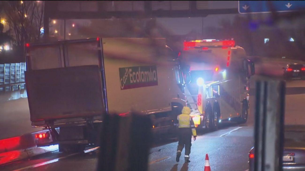 Accidente múltiple en la A-4 a la altura de Valdemoro, con cuatro vehículos implicados