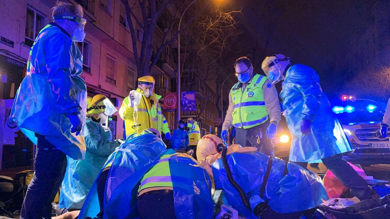Accidente de tráfico en Arganzuela