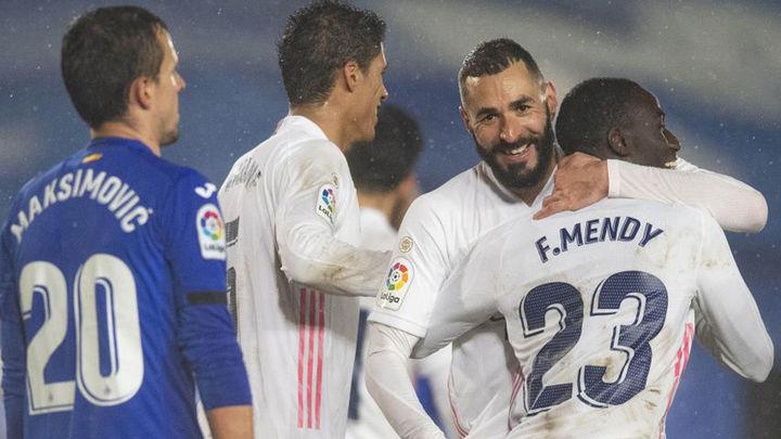 2-0. El Real Madrid derrota al Getafe y se pone a cinco puntos del Atleti