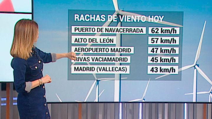 Aviso amarillo por fuertes vientos en la Sierra de Madrid