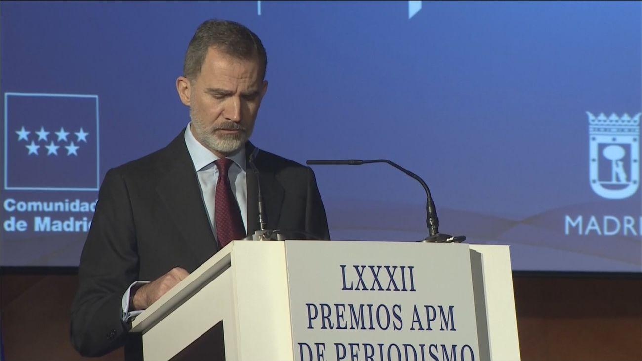 """El Rey: """"Sin libertad de expresión y de información no hay democracia"""""""