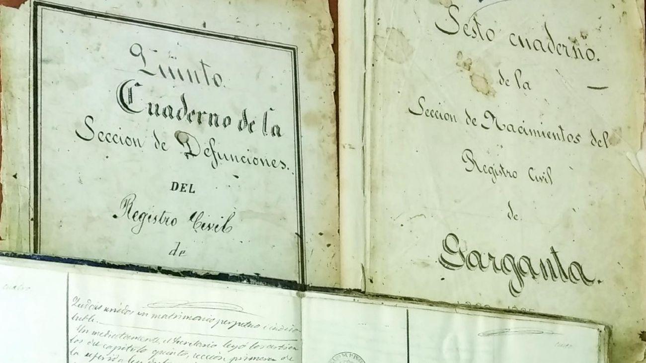Hoja del archivo histórico de Garganta de los Montes