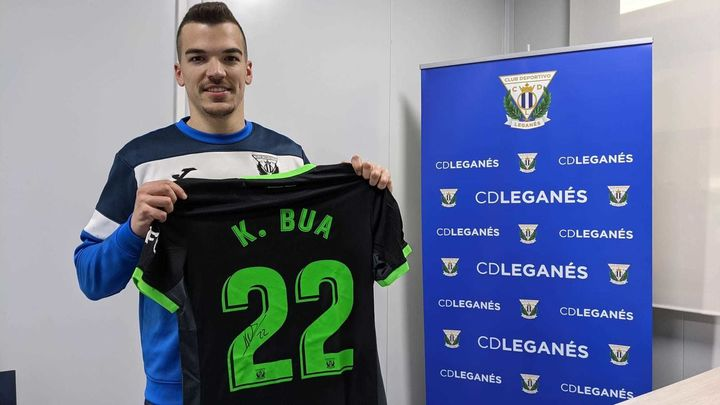 """Kevin Bua, futbolista del Leganés: """"Con los goles te llega la confianza"""""""