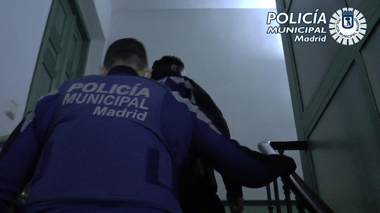 Actuación de la Policía Municipal de Madrid contra una fiesta ilegal