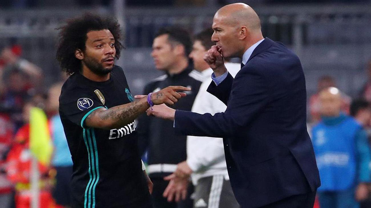 El sistema de Zidane ensalza a un Marcelo que acabó lesionado