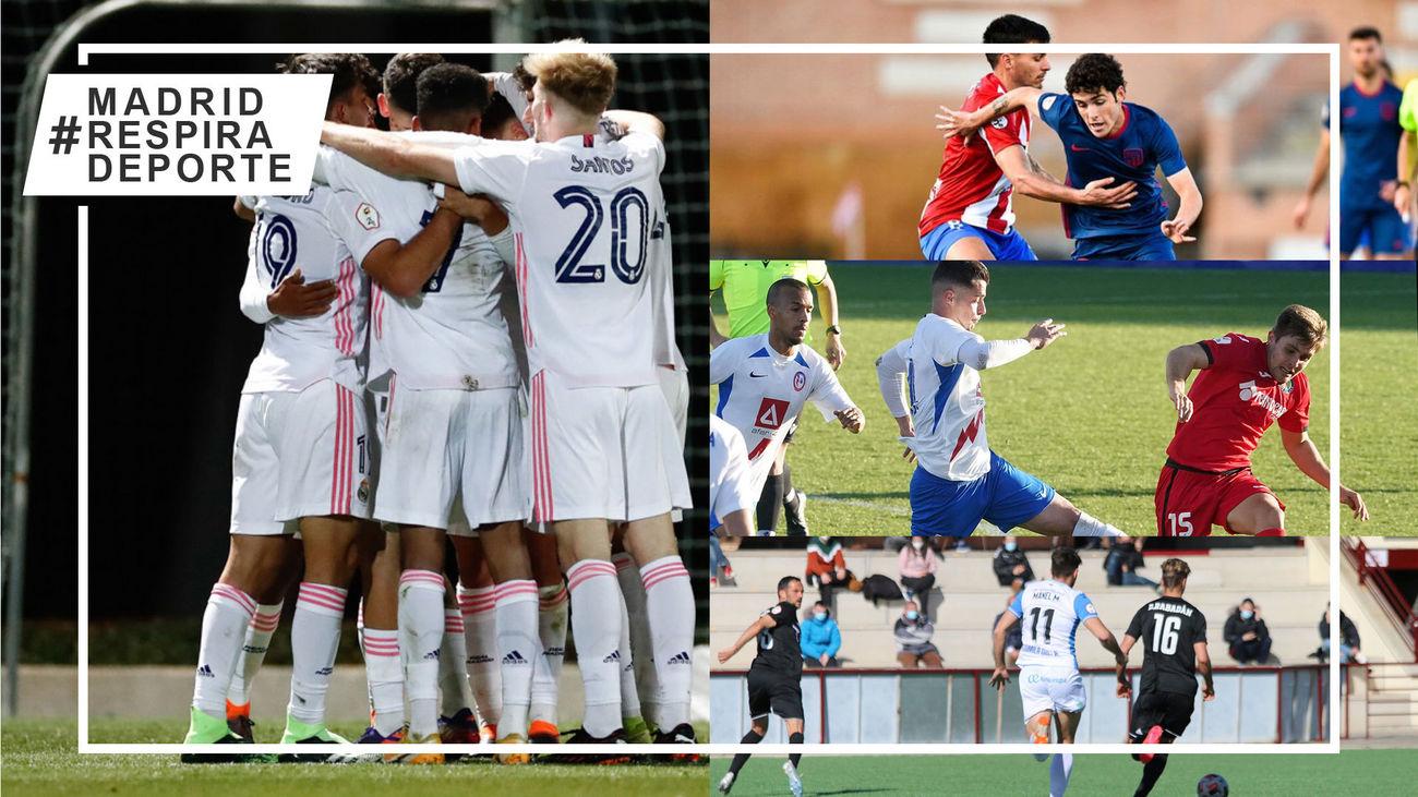 Castilla, Navalcarnero-Atleti B y Rayo Majadahonda-Getafe B
