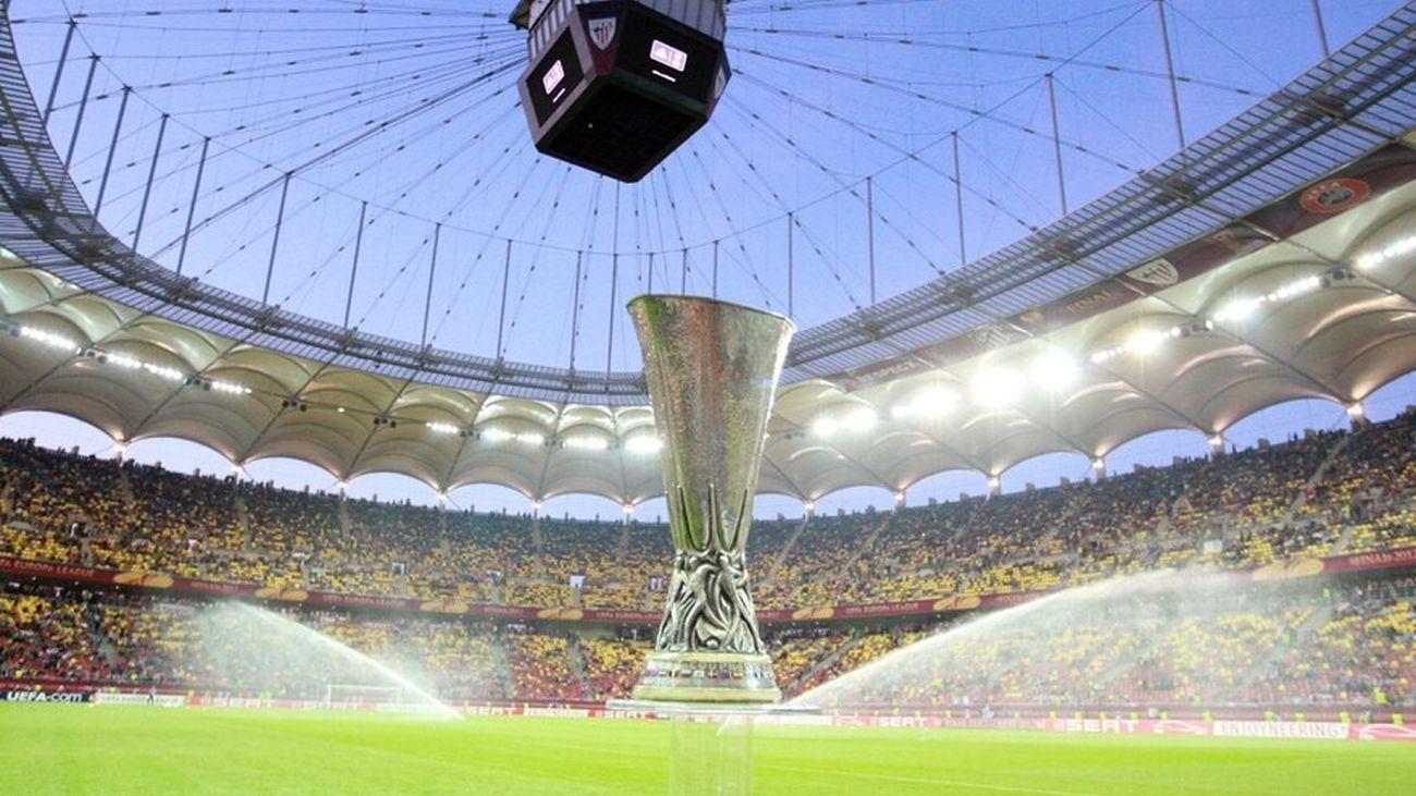 Estado National Arena de Bucarest (Rumanía) minutos antes de la final de la Europa League conquistada por el Atlético de Madrid