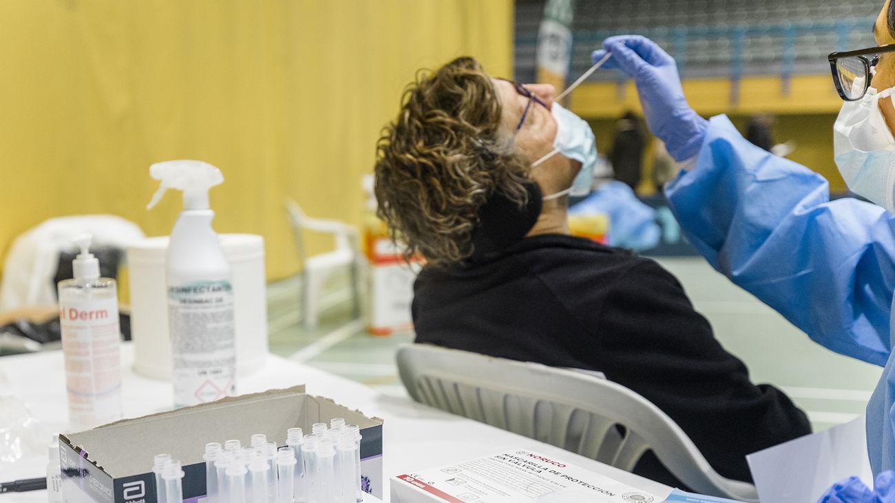 Realización de test de antígenos en Cercedilla