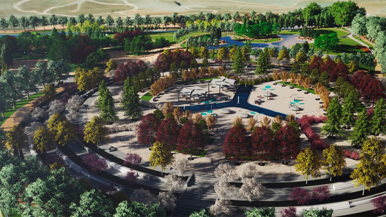 Recreación del proyecto del parque de la Gavia