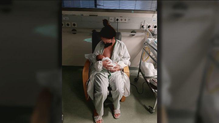 Conoció a su bebé 13 días después de nacer al tener que ser intubada por coronavirus tras la cesárea