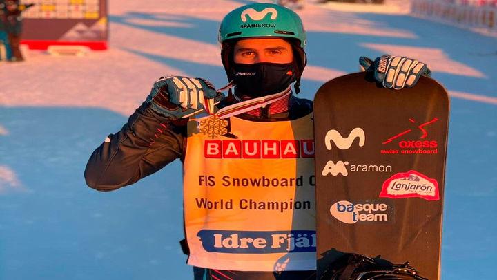 Lucas Eguibar, campeón del Mundo de boardercross