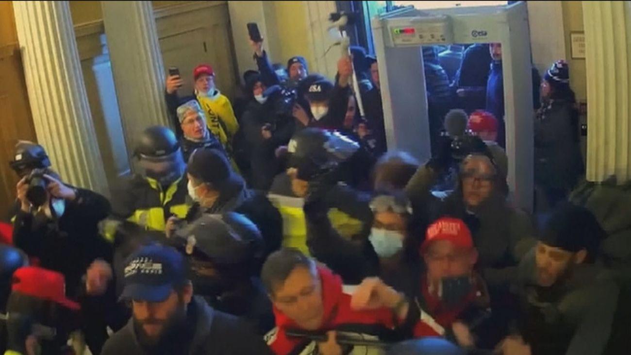 Nuevas imágenes del asalto al Capitolio