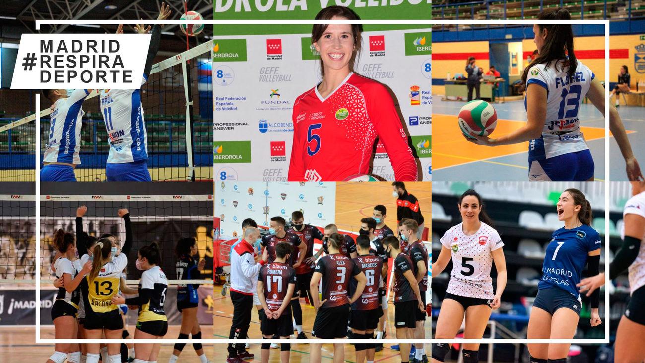 Los equipos madrileños de voleibol