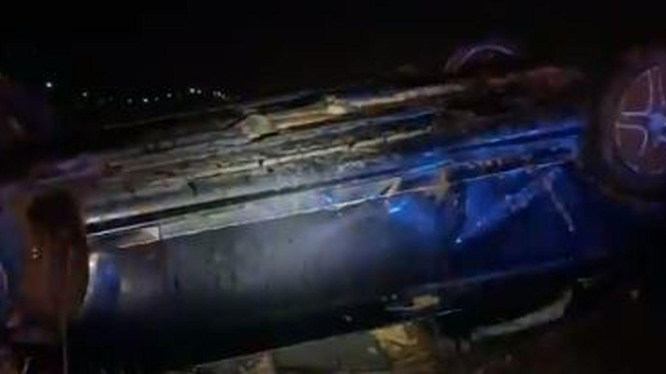 Accidente de tráfico en la  M-108, en  Ajalvir