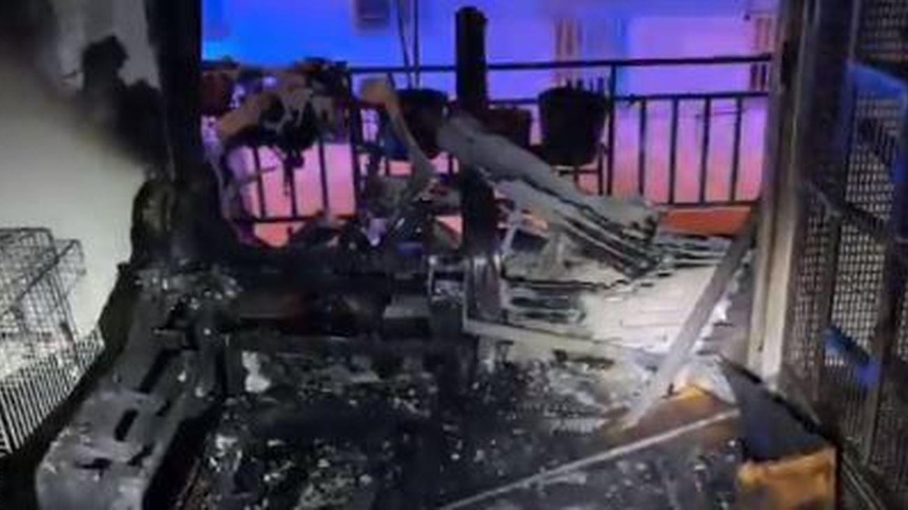 Incendio en una vivienda de Leganés