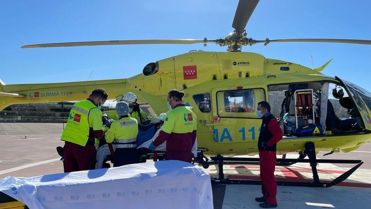 Dos heridos graves en sendos accidentes de montaña en la sierra de Guadarrama