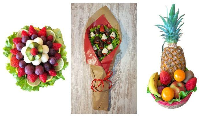 Ramos de frutas para regalar en San Valentín