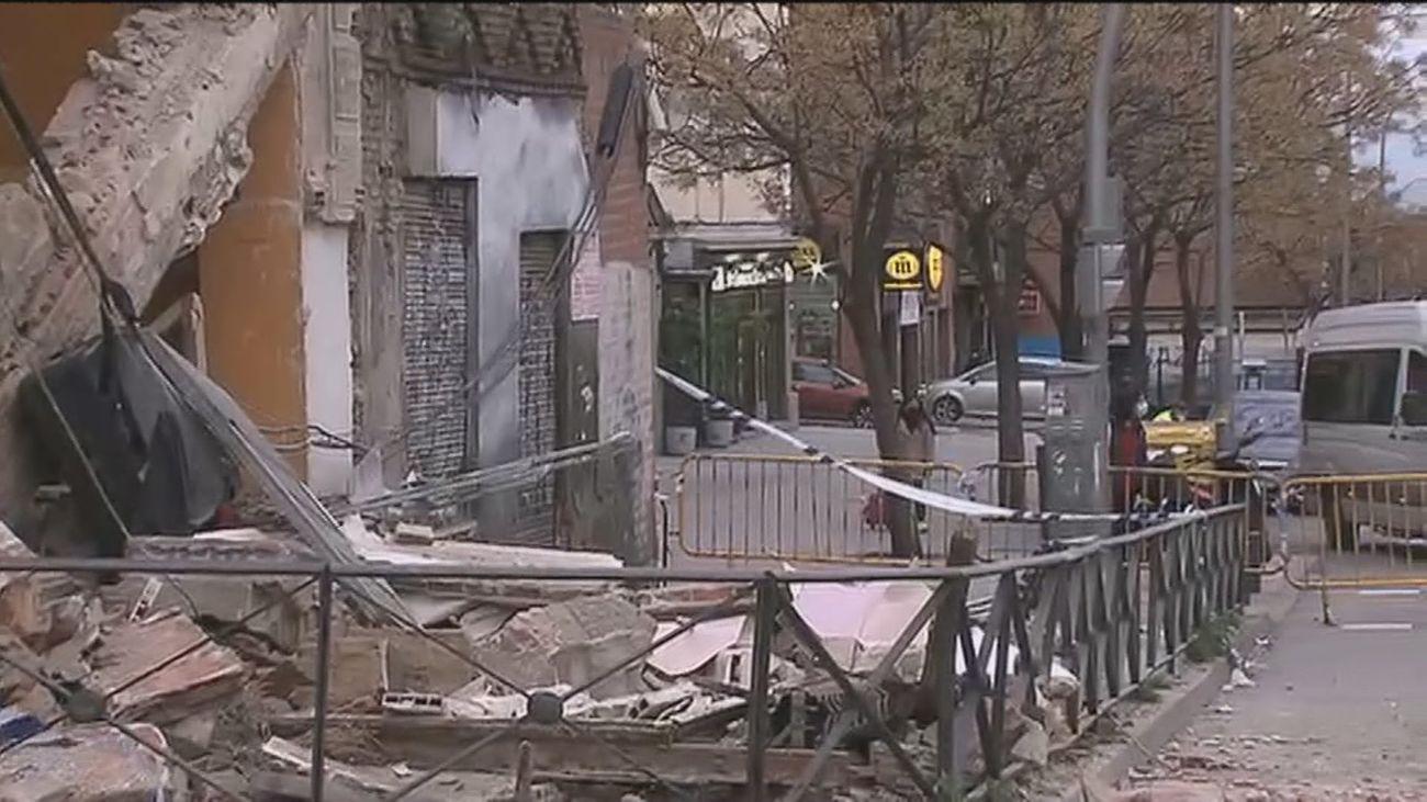 """Los vecinos del edificio derruido en Marqués de Viana aseguran que """" llevaba mucho tiempo con riesgo de derrumbe"""""""